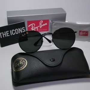 Ray Ban Round Black Sunglasses RB3447